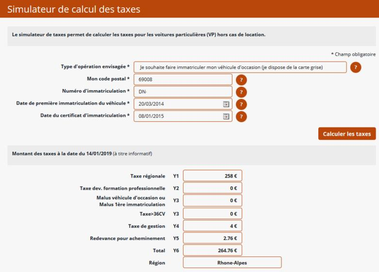 19 Simulateur Calcul Taxes Immatriculation Vehicules 1