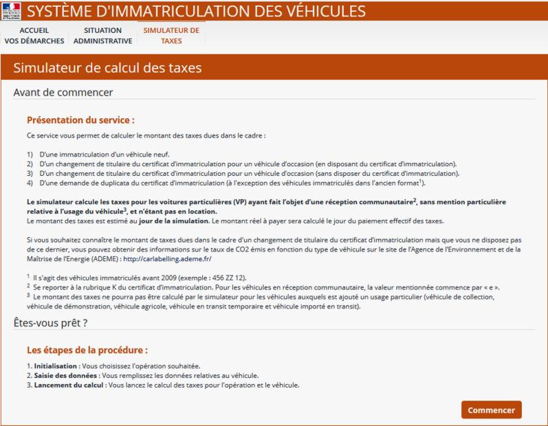 19 Simulateur Calcul Taxes Immatriculation Vehicules