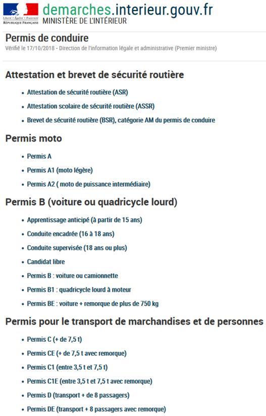 19 Demarches Ministere Interieur Permis Conduire