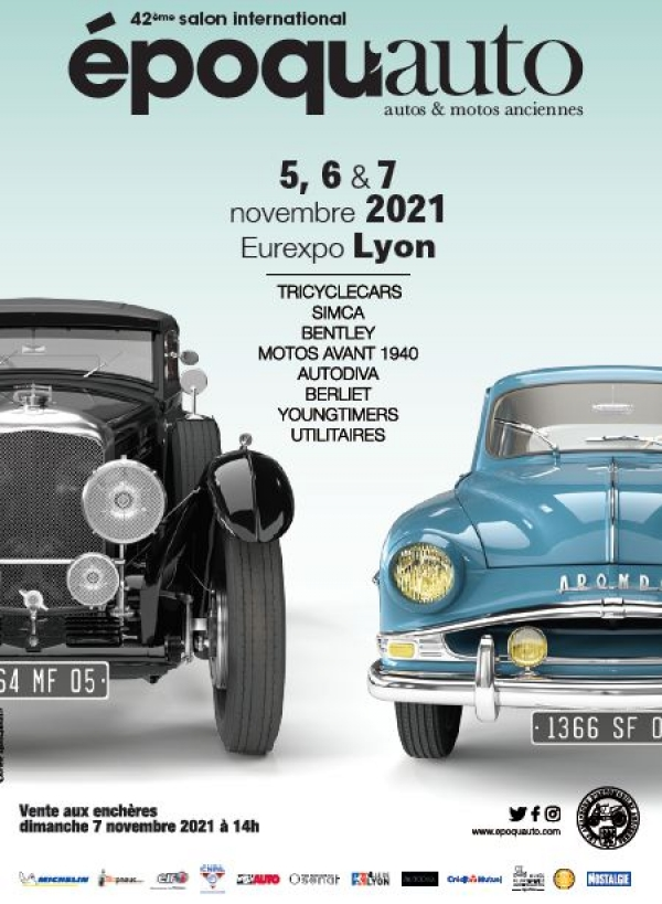 Epoqu'Auto, le salon international autos & motos anciennes 2020
